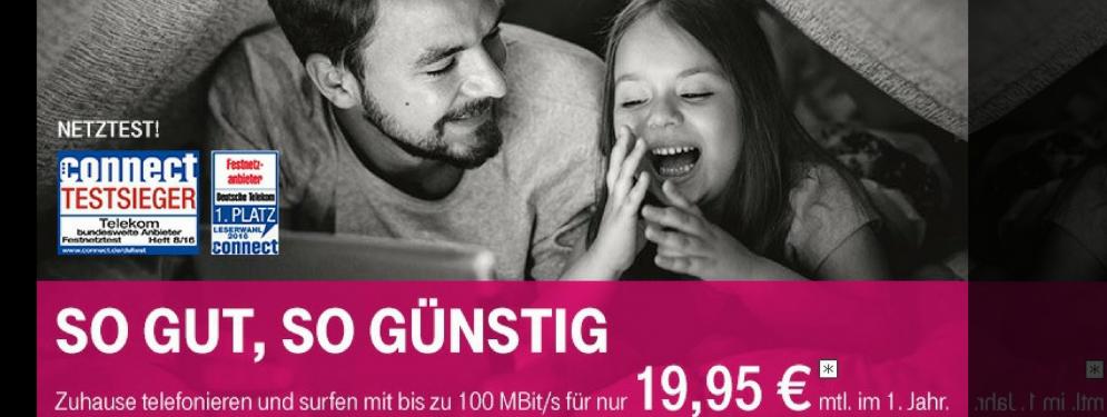 Telekom – So gut so günstig 19,95 € mntl.